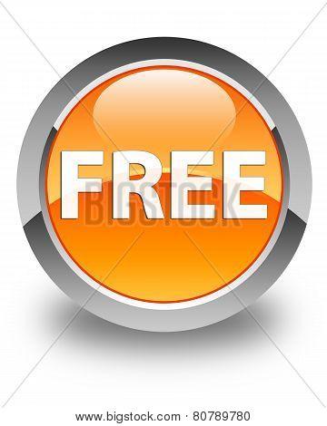 Free Glossy Orange Round Button