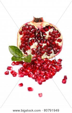 A Half Grenadine With Seeds