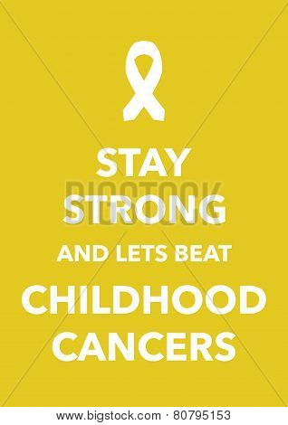 childhood cancers poster