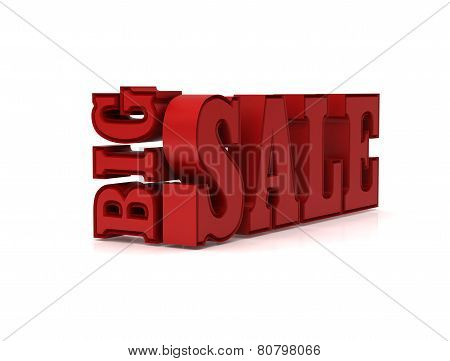 3D Big sale promotion  isolated