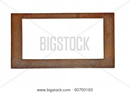 vintage heavy patina brass label name plate, clipping path