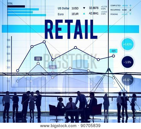Retail Commerce Sale Selling Business Concept poster