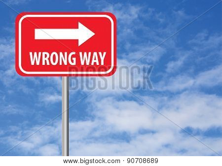 Wrong Way With Arrow