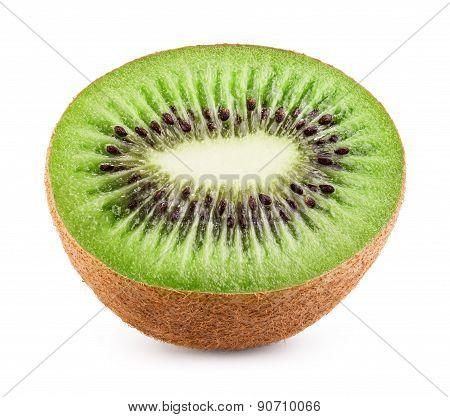 Juicy kiwi fruit isolated on white background. Clipping Path poster