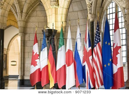 Flags of the G8