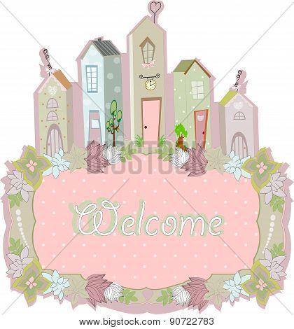 sweet home card design. vector illustration