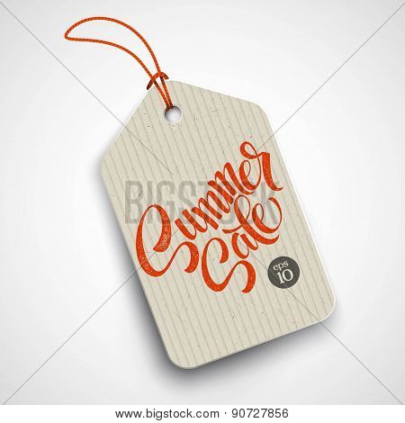 Summer  sale grunge label. Vector illustration