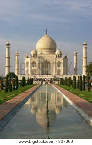 Taj Mahal In Evening Light