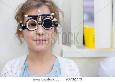 girl in ophthalmic glasses