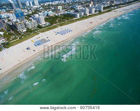 Aerial photo of Miami Beach