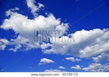 White Clouds Against The Pure Blue Sky