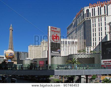 LAS VEGAS, NEVADA, USA  - NOVEMBER 03: Paris Las Vegas and Planet Hollywood Resort Casino Hotel 2012