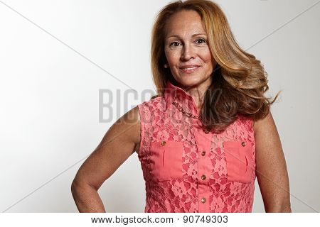 Portrait Of A Beauty Senior Woman