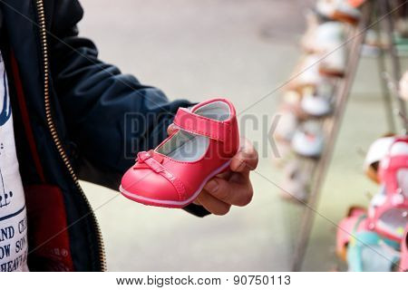 Father Choosing Shoes