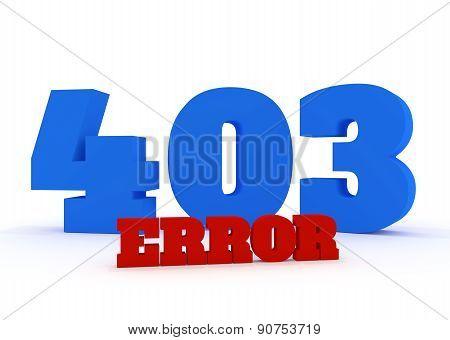 3D Error 403