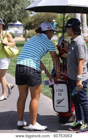 Lydia Ko At The Ana Inspiration Golf Tournament 2015