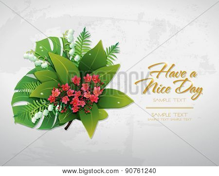 blossom tropical flower background 10