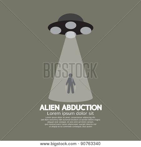 Alien Abduction With Ufo Spaceship.