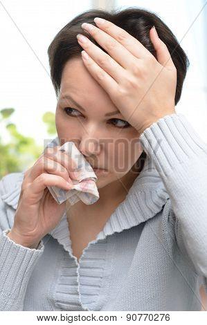 woman ill cold