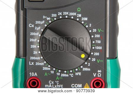 Isolated digital multimeter selector