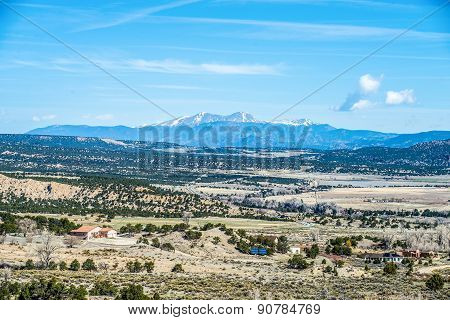 colorado rocky mountains vista views with blue sky poster