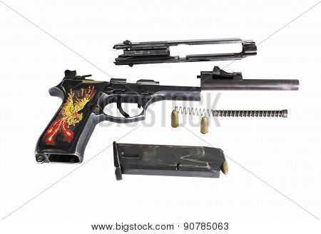 guns and equipment cleaning