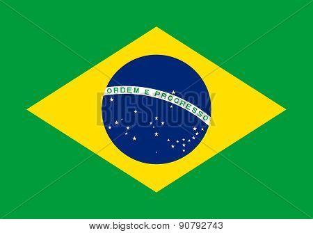 Flag Of Brazil Horizontal