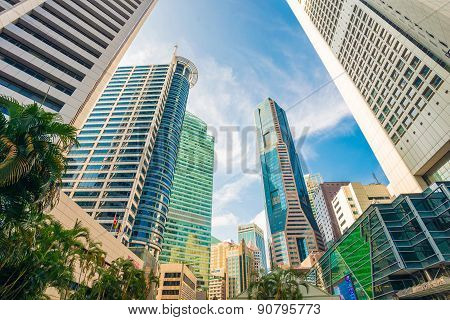 Windows Of  Modern Office Buildings, Skyscraper Business Office
