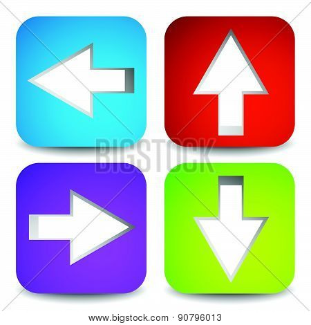 Bight and colorful Arrow Graphics. Eps 10 Vector