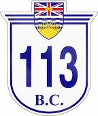 Shield for the British Columbia Highway number 113. poster
