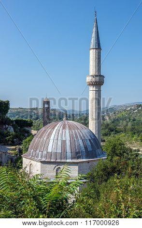Hajji Alija Mosque in Pocitelj village in Bosnia and Herzegovina poster