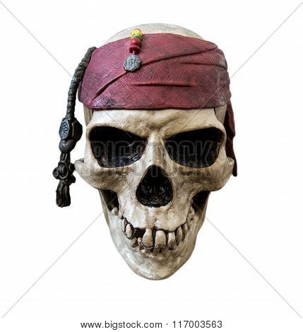 Pirate skull, isolated on white background