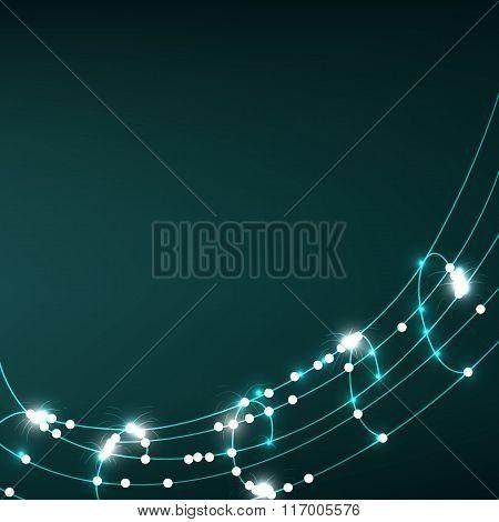 illuminated abstract digital wave