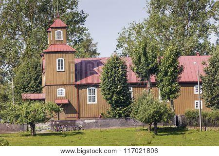 Wooden Church Near Suwalki, Poland.