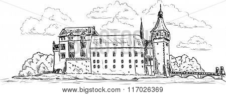 vector - Palace and Castle Blatna - Europe - Czech republic