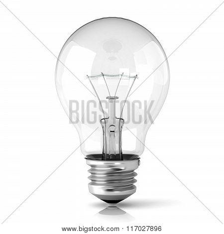 Light bulb. 3D
