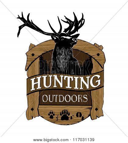 hunting logo. Vector emblems