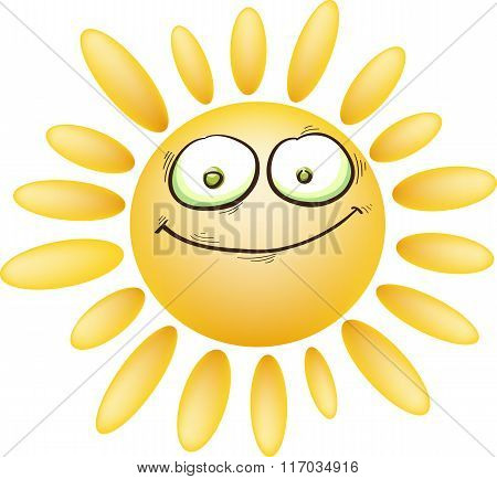Sarcastic Cartoon Sun