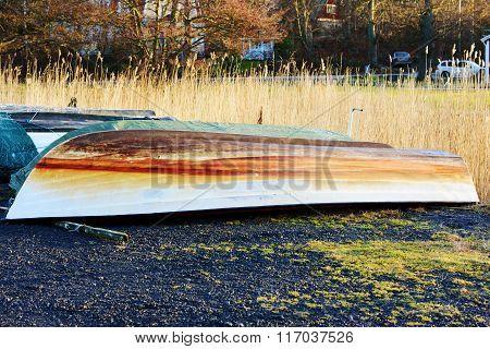 Upside Down Plastic Boat
