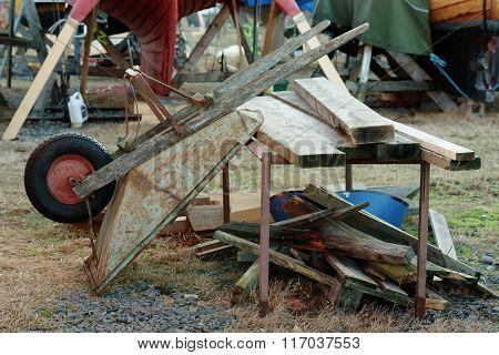 Wheelbarrow Resting