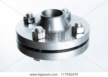 Neck flanges isolated.