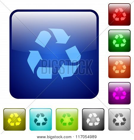 Color Recycling Square Buttons