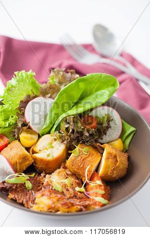 Chicken Breast Wrapped With Salad