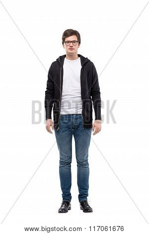 Young Man In Casual Clothes