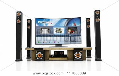 Home Theater System With Smart Tv