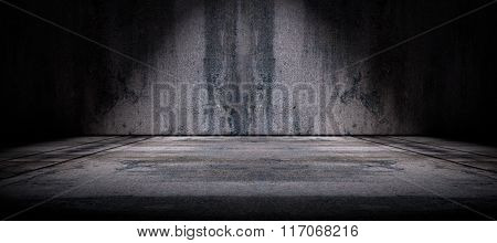 Cement floor and wall background