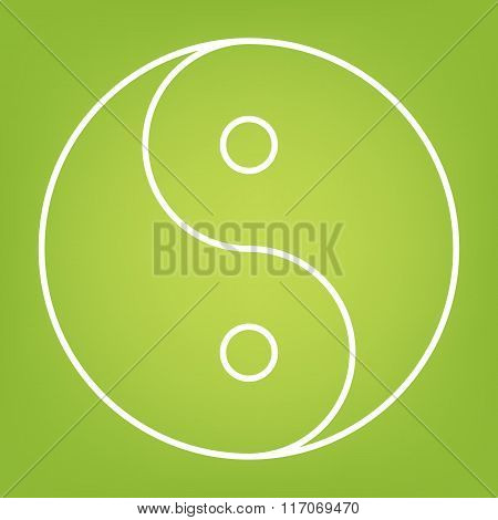 Ying yang symbo line icon