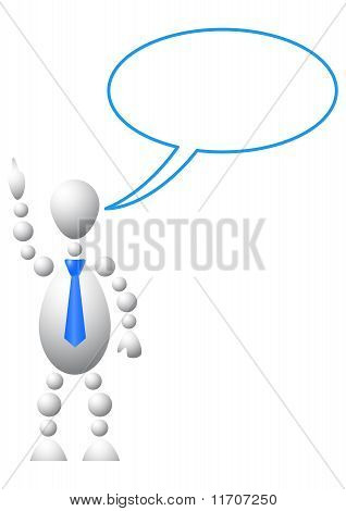 Man With Empty Chat Bubble
