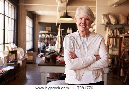 Portrait Of Senior Female Owner Of Gift Store