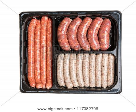Vacuum Package Of Sausages.